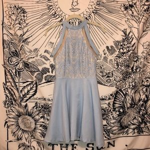 Dresses - Baby blue cocktail dress
